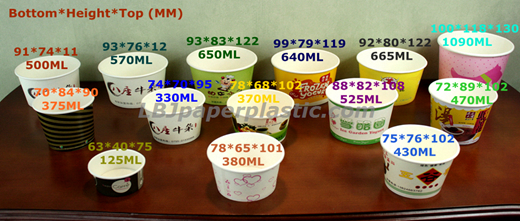 5oz Ice cream bowls, small food containers, good quality in ...